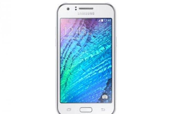Le Samsung Galaxy J est commercialisé 90€ en France. C'est de ce type de produit d'entrée de gamme que le fabricant tire la majorité de ses ventes cette année. (Crédit D.R)
