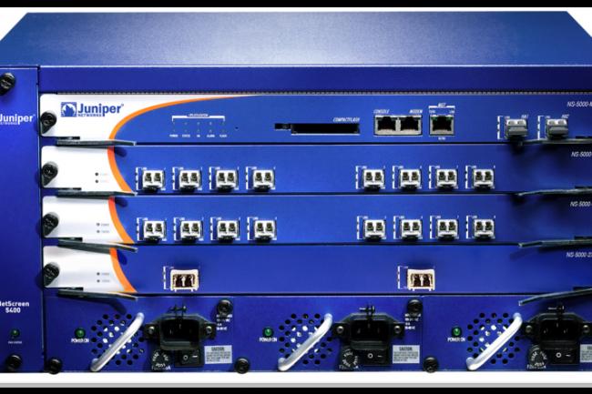 De nombreux produits de Juniper, comme le pare-feu NetScreen 5400, tourne sur le système d'exploitation ScreenOS. (crédit : Juniper Networks)