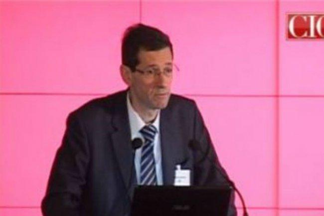 Chistophe Delaye, alors DSI pour les clientèles grand public, lors d'une conférence CIO en juin 2013. (Crédit CIO)