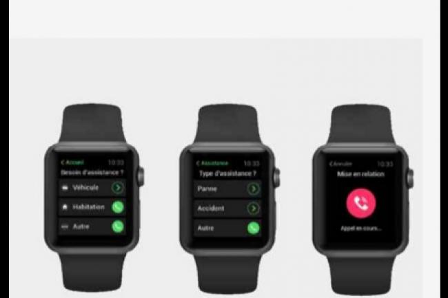 L'application mobile de la Matmut a été déclinée et adaptée pour Apple Watch. (crédit : D.R.)