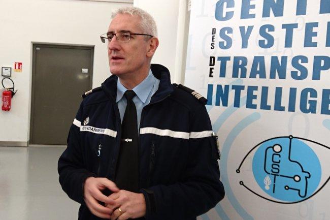 Le colonel Franck Marescal à Cergy Pontoise le 14 janvier dernier pour la journée portes ouvertes du C3N. (Crédit S.L.)