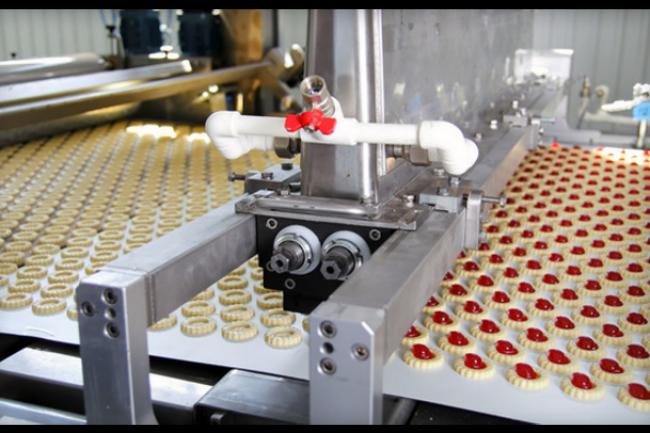 La start-up Wi-Next propose des objets connectés industriels pour différentes usines comme cette fabrique de biscuits. (crédit : D.R.)