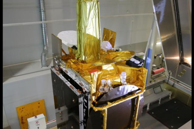 EDRS (European Data Relay System) utilise une technologie laser permettant de transmettre des données jusqu'à 1,8 Gbps grâce au satellite Eutelsat 9B. (crédit : D.R.)