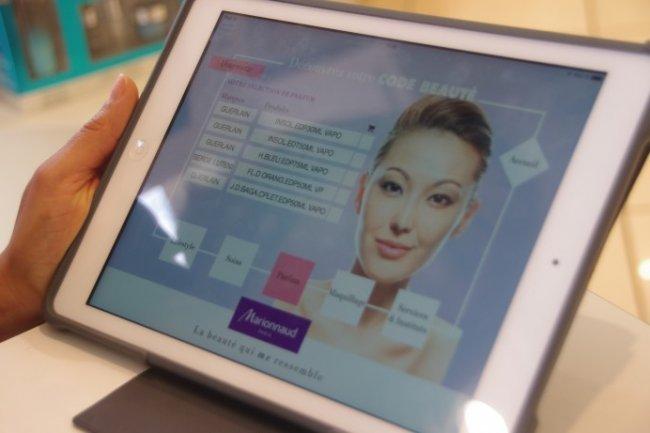 L'application Code Beauté réalisée par Sentinelo pour les conseillères Marionnaud. (Crédit D.R.)
