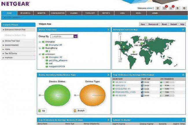 La plate-forme de gestion Netgear NMS300 est vulnérable à des cyber-attaques exploitant des failles dans son interface web. (Crédit D.R.)