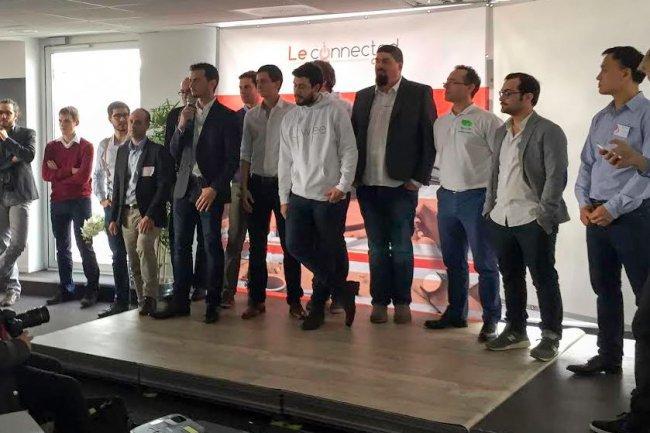 Les lauréats de la première promotion du Connected Camp seront soutenus pendant 9 mois par l'accélérateur de start-upsr  Crédit: D.R.