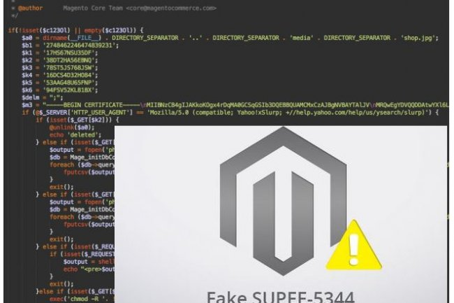 La société de recherche en sécurité Sucuri donne des détails sur le faux correctif pour Magento que des attaquants tentent de faire télécharger aux sites de e-commerce. (crédit : D.R.)
