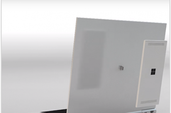NexDock a imaginé un PC portable pouvant accueillir et faire tourner tablettes et smartphones Android, Windows 10 ou Ubuntu. (crédit : D.R.)