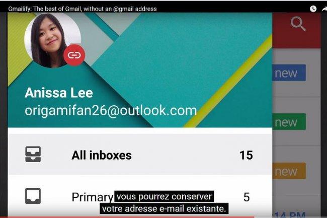 En activant « gemailify » sur un compte Gmail, on peut disposer des fonctions telles que l'antispam sur d'autres messageries. (Crédit : D.R.)