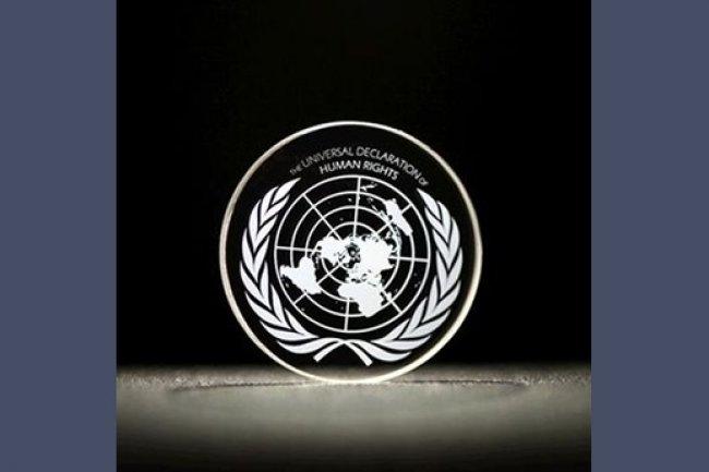 Des chercheurs anglais ont stocké dans un disque de quartz la Déclaration universelle des Droits de l'homme. (Source: Université de Southampton )