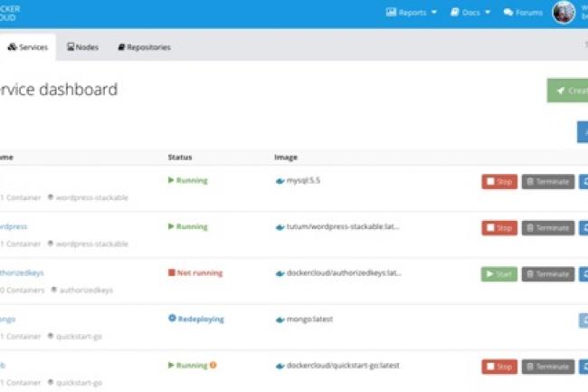 Docker Cloud offre une intégration native avec Docker Hub et Docker ID. (crédit : Docker)