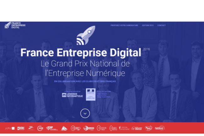 France Entreprise Digital 2016 récompense les projets incarnant le mieux les valeurs d'innovation et de transformation numérique en France. (crédit : IT News Info)