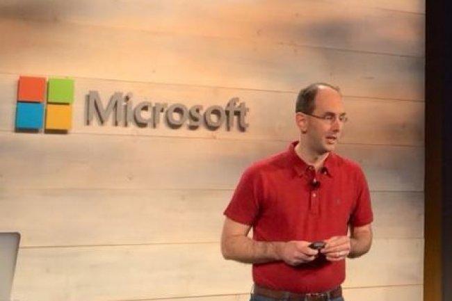 Scott Guthrie, responsable Cloud et Entreprise de Microsoft, vient tout simplement d'annoncer SQL Server pour Linux. (crédit : J.Niccolaï/IDGNS)