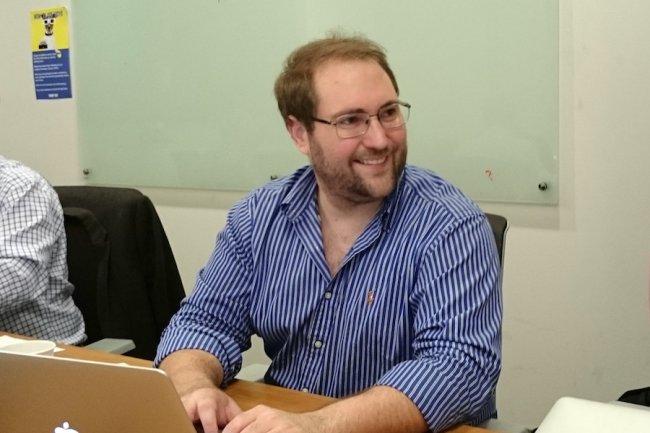 Patrick White, CEO et fondateur de Synata, rencontré dans le cadre d'un voyage de presse dans la Silicon Valley en octobre 2015. (Source: SL)