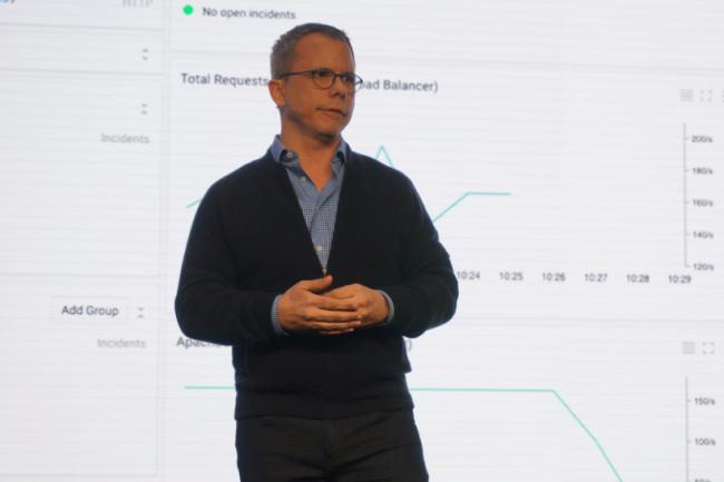 Greg DeMichillie a fait une démonstration de Stackdriver lors de la GCP Next de Google à San Francisco le 23 mars. (crédit : Blair Hanley Frank)