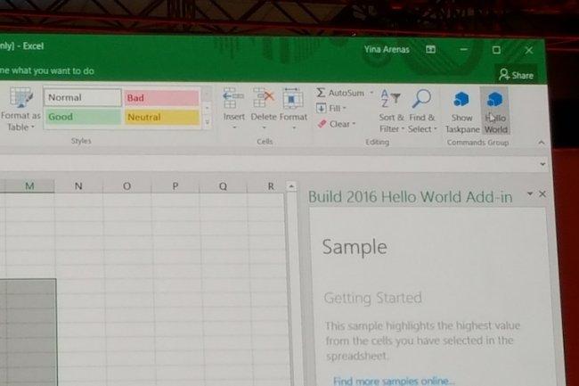 Un exemple de boutons ajoutés à Excel. (Mark Hachman)