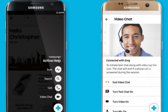 Samsung lance une app d'assistance par chat vidéo pour Galaxy S7 et Edge