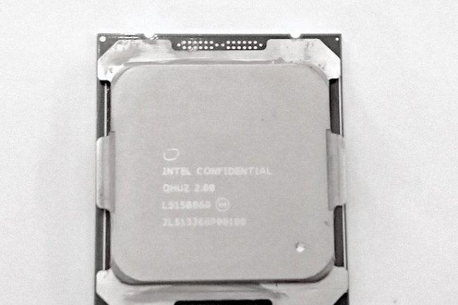 Le Xeon E5v4 intègre un peu plus de 7 milliards de transistors. (crédit : LMI)