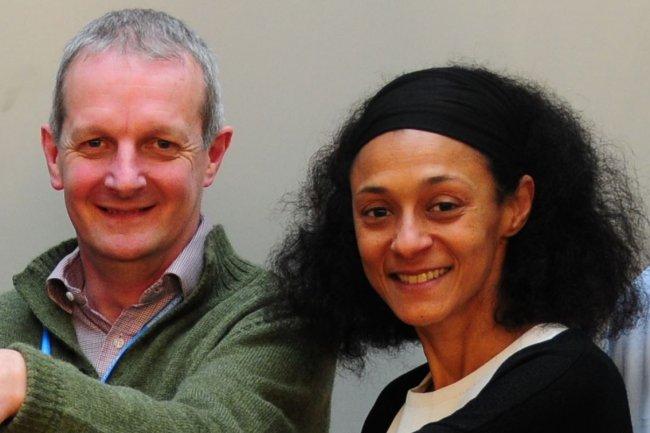 Toby Green, chef des publications de l'OCDE, et Pascale Cissokho-Mutter, responsable de la gestion de l'information des éditions OCDE. (crédit : D.R.)