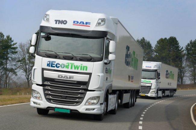 Ces camions connectés et autonomes ont traversé les Pays-Bas. (Crédit: Ministère néerlandais de l'Infrastructure et de l'Environnement)