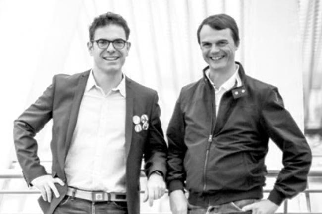 Dominique Mangiatordi, CEO de Royal App Force (à gauche) et Cédric Pierrard, CEO d'Efficy. (crédit : D.R.)
