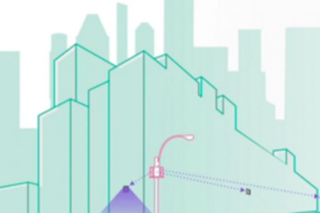 Terragraph présenté par Facebook s'appuie sur un réseau d'émetteurs radio espacés de 250 mètres utilisant la bande fréquence 60 Ghz. (crédit : D.R.)