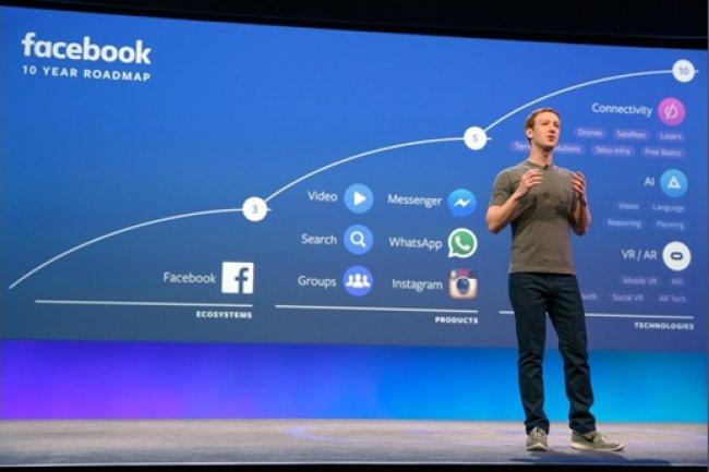 Lors de la conférence F8 2016. Mark Zuckerberg a présenté la roadmap de sa firme pour les prochaines années. (Source: Facebook)