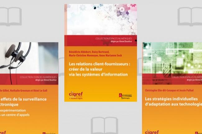 Trois ouvrages pour trois thèmes majeurs de la transformation numérique. (crédit : D.R.)