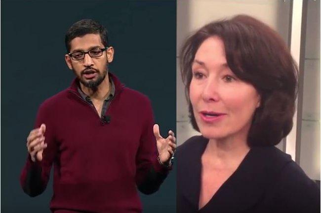 Sundar Pichai, CEO de Google, et Safra Catz, co-CEO d'Oracle, se sont rencontrés pour une médiation, sans trouver d'issue au litige qui oppose leurs sociétés dans l'utilisation abusive de Java pour Android. (crédit : D.R.).