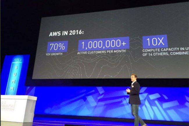 Matt Wood, directeur général de la stratégie produit d'Amazon Web Services, a présenté les dernières annonces du fournisseur à Chicago. (Crédit IDG NS)