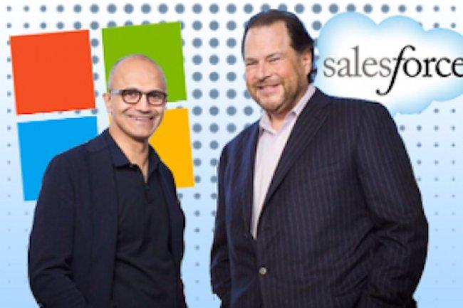 Pour contrer les purs players comme SalesForce, les éditeurs traditionnels comme Microsoft sont bien décidés à rattraper leur retard dans le SaaS. (Crédit D.R.)