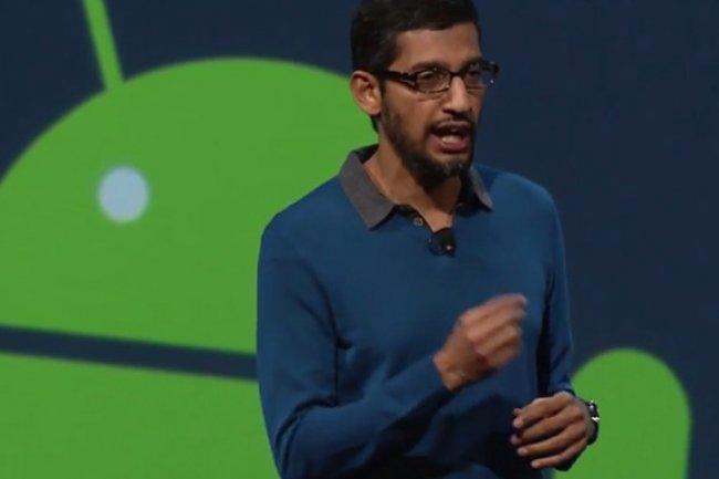 Sundar Pichai à la conférence Google I/O en 2015 (Credit: IDG NS)