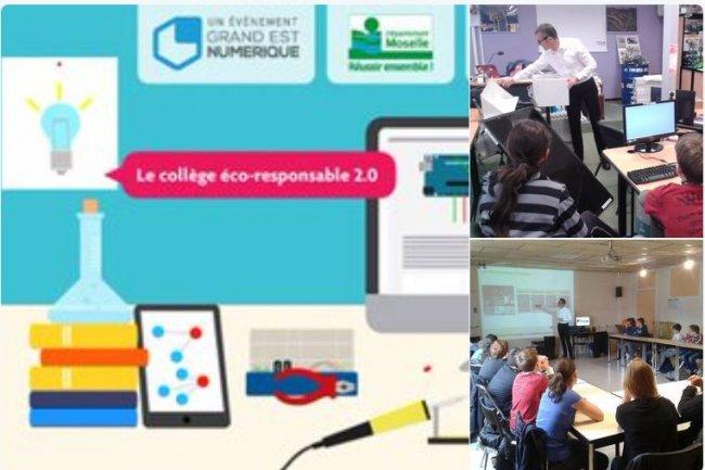 Cette année, le « Hackathon Collèges » quadruple son ampleur en Moselle en mobilisant 70 enfants, 20 collèges, 40 coachs et 4 fab labs. Crédit: D.R.