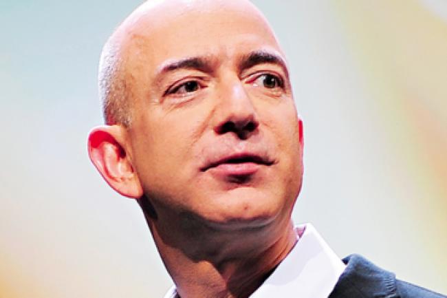 Jeff Bezos, CEO d'Amazon, a de quoi être fier de la belle progression de l'activité cloud de sa société. (crédit : D.R.)