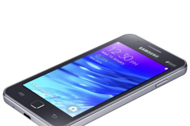 Le smartphone Samsung Z1 tourne sur l'OS mobile Tizen. (crédit : D.R.)