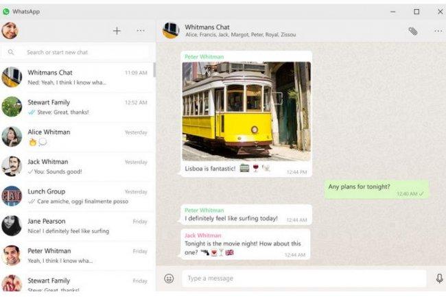 Après la version web, WhatsApp vient tout juste de lancer son application de messagerie instantanée pour PC et pour Mac. Crédit: D.R