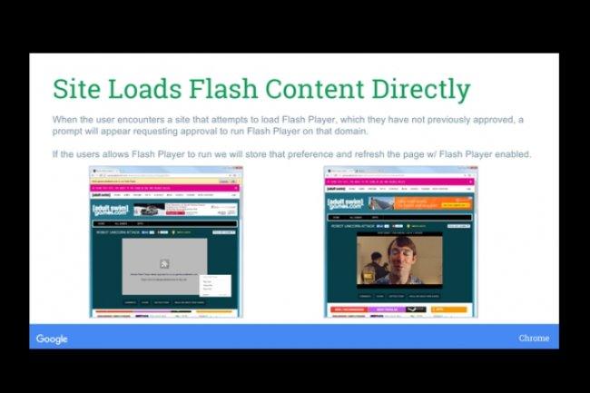 Google veut imposer HTML5 au détriment de flash pour afficher les contenus vidéo. (crédit : D.R.)