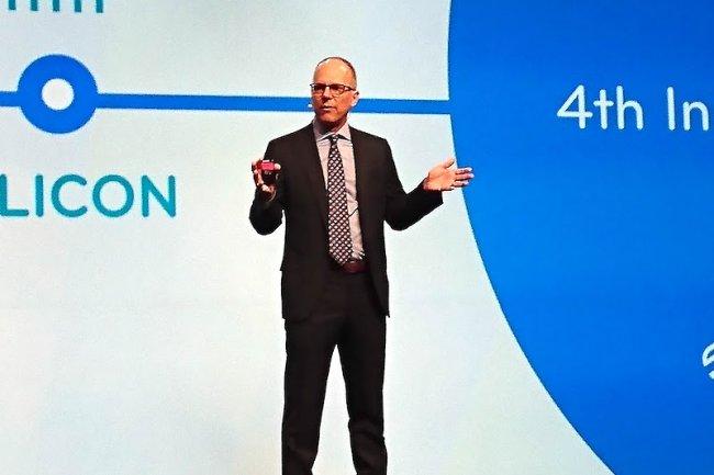 Murray Rode, CEO de Tibco Software lors de la première journée de son événement TibcoNow 2016 à Las Vegas (crédit : Serge Leblal)