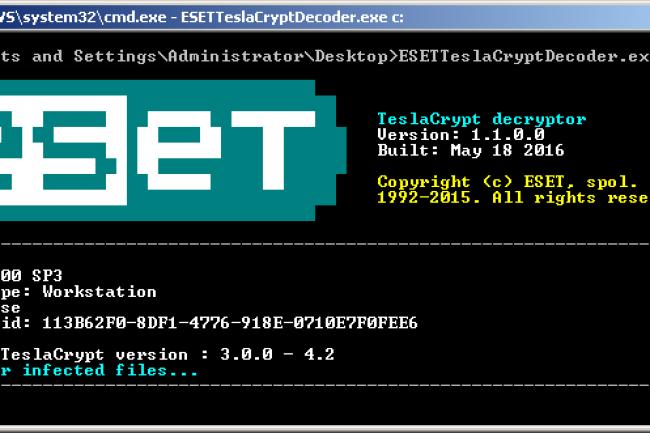 ESET a très vite réagi suite à la publication de la clef de chiffrement principale de TeslaCrypt en proposant un outil pour déverrouiller les jeux vidéos touchés.