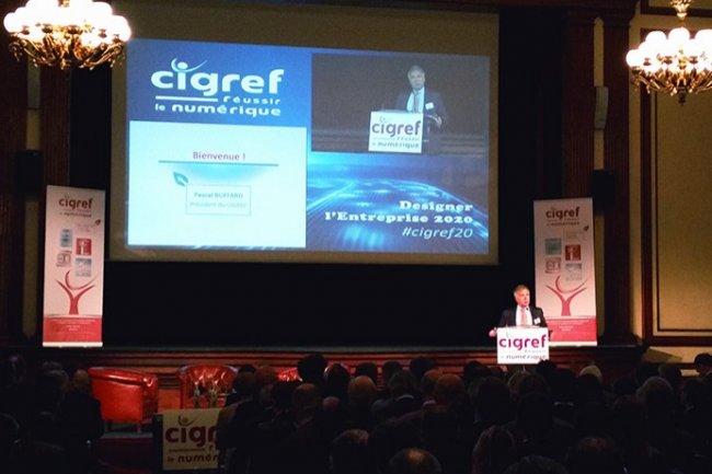 Pascal Buffard, président du Cigref, a ouvert le colloque «Designer l'entreprise 2020» le 20 mai 2016 à l'Automobile Club de France.