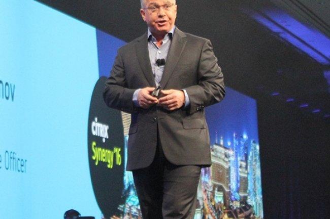 Kirill Tatarinov, président et CEO de Citrix, à Las Vegas pour la convention Synergy 2016. (Crédit D.R.)