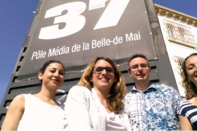 Installé depuis 1999 à Marseille, l'incubateur Belle de Mai piloté par Céline Souliers (au milieu de la photo) est un dispositif national qui accueille et accompagne des projets liés aux technologies du numérique sur toute la France.
