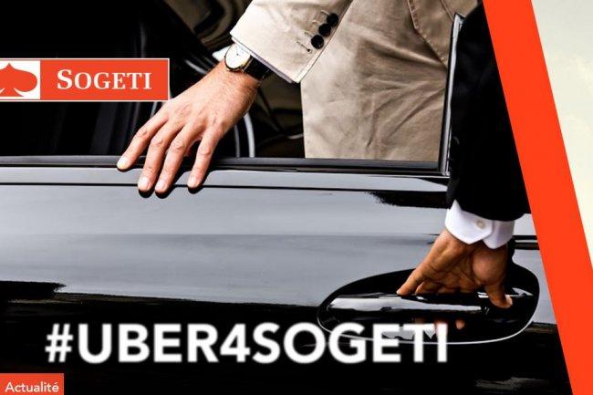 Le dispositif #Uber4Sogeti est valable jusqu'au 30 septembre � raison de deux courses au d�part ou � destination des sites de Sogeti. Cr�dit: D.R.