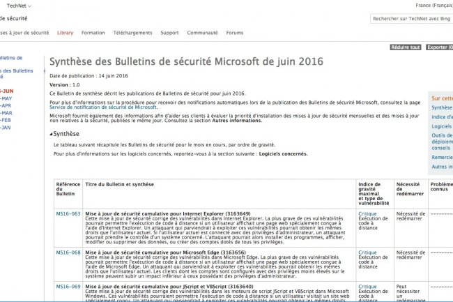 Microsoft pousse ses derniers correctifs aussi vite que possible quand il s�agit de failles critiques.