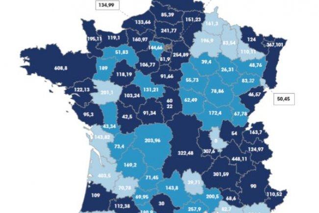 france très haut débit carte Les départements prévoient 12 Md€ sur le Plan très haut débit   Le