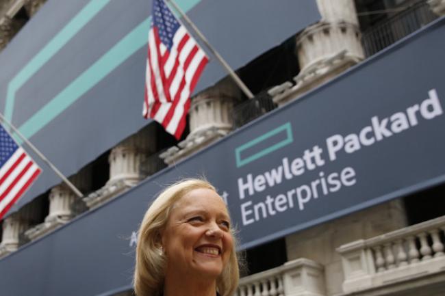 Meg Whitman, présidente et CEO d'HPE peut avoir le sourire, sa compagnie a gagné son procès contre Oracle dans l'affaire Itanium. (crédit :Eric Draper/HP Enterprise)