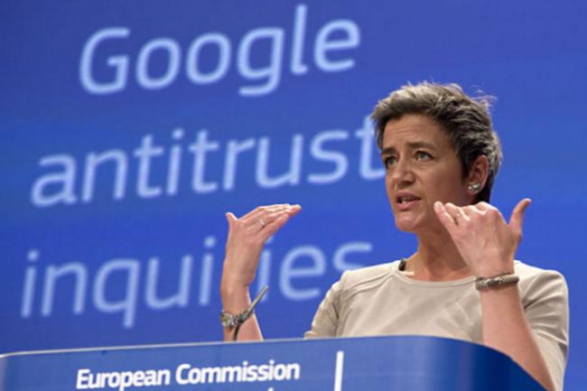 La commissaire européenne à la concurrence Margrethe Vestager a Google dans son collimateur. (crédit : D.R.)