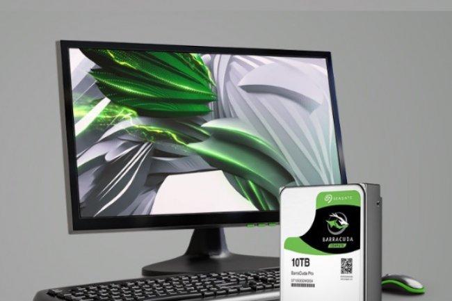 Avec son Barracuda Pro 10To, Seagate propose un disque dur grande capacité utilisant l'helium pour réduire les frictions. (crédit : D.R.)