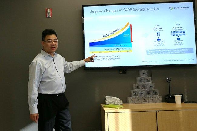 Michael Tso, CEO de Cloudian, en juin dernier � San Mateo. (cr�dit : D.R.)