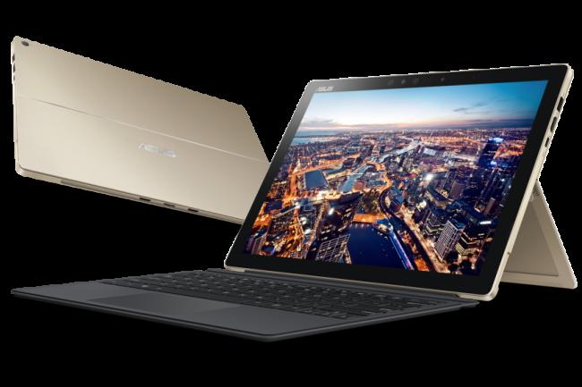 Le Transformer 3 Pro T303 d'Asus vient concurrencer les Surface Pro de Microsoft et Galaxy Tab Pro S de Samsung mais avec une puce Kaby Lake. (crédit : D.R.)